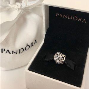 New Pandora Silver CZ 🌹Floral Mystic Flower Charm